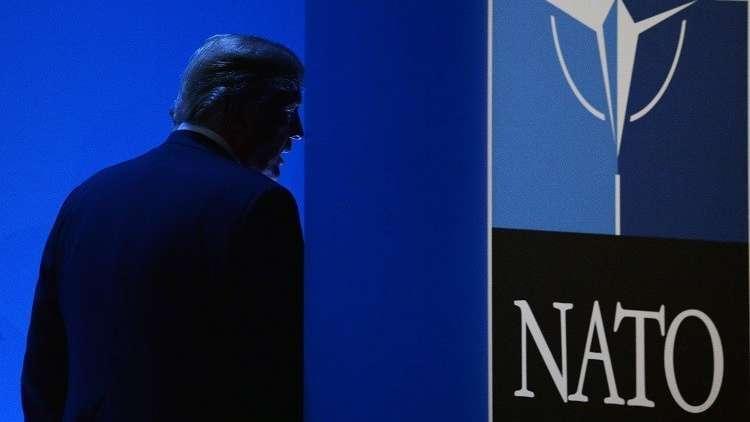 أرشيف - دونالد ترامب في قمة حلف الناتو، بروكسل، 12 يوليو 2018