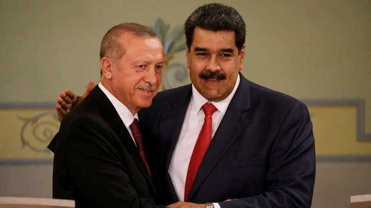 أردوغان ومادورو في قصر ميرافلوريس في كراكاس، فنزويلا 3 ديسمبر 2018