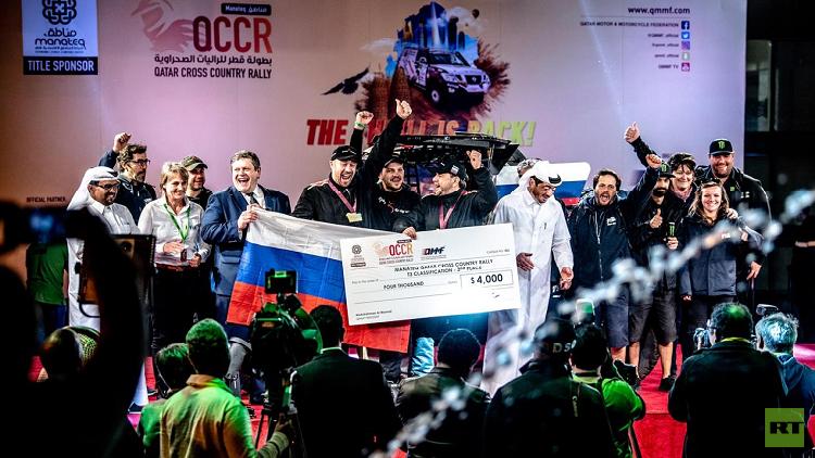 الروس يصعدون إلى منصة التتويج في بطولة قطر للراليات الصحراوية