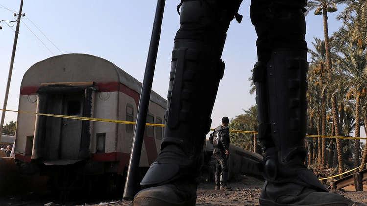 حادث قطار في مصر - أرشيف