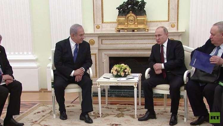 بوتين ونتنياهو يبحثان قضايا المنطقة