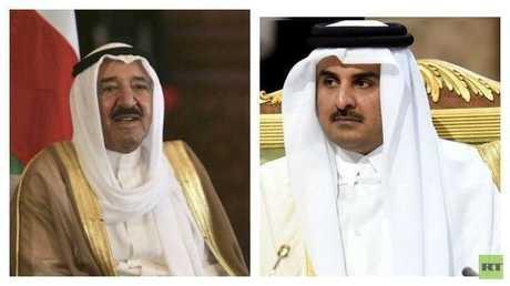 أمير قطر ونظيره الكويتي