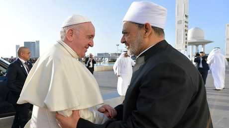 شيخ الأزهر وبابا الفاتيكان في الإمارات