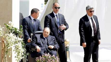 الرئيس الجزائري عبد العزيز بوتفليقة في الجزائر العاصمة، 9 أبريل 2018