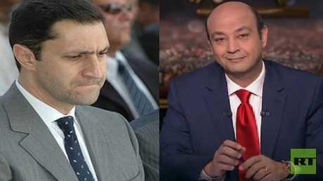 عمرو أديب وعلاء مبارك
