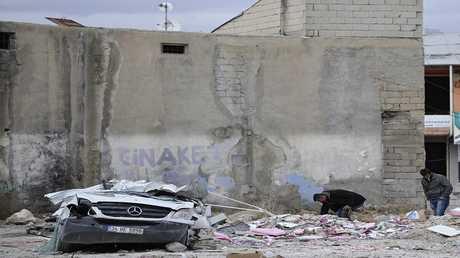 صورة ارشيفية لعواقب هزة أرضية في تركيا
