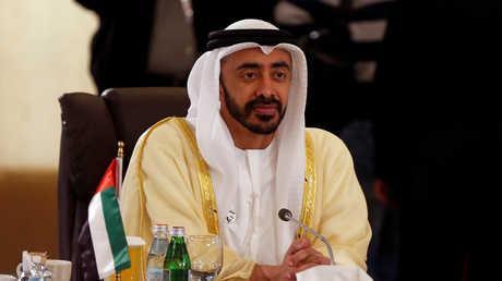 وزير الخارجية الإماراتي، عبد الله بن زايد آل نهيان