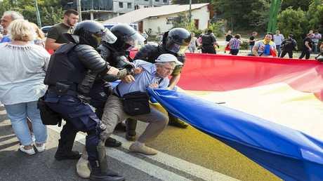صورة ارشيفية لمظاهرة في مولدوفا