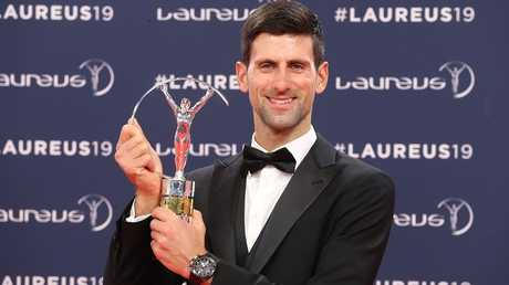 دجوكوفيتش يفوز بجائزة أفضل رياضي لعام 2018