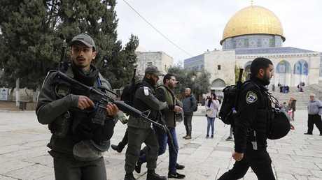 اعتقالات في المسجد الأقصى (صورة من الأرشيف)