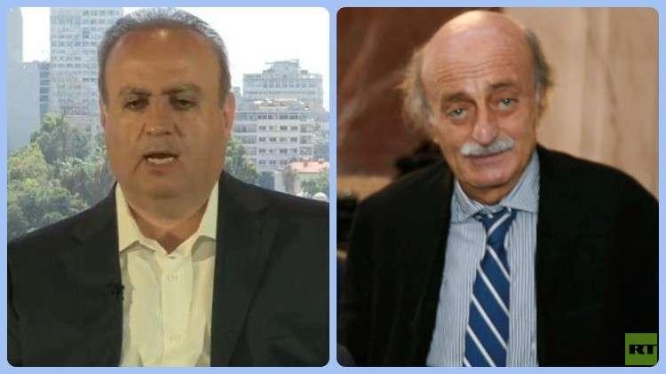 زعيم الحزب التقدمي الاشتراكي في لبنان وليد جنبلاط ورئيس حزب التوحيد وئام وهاب