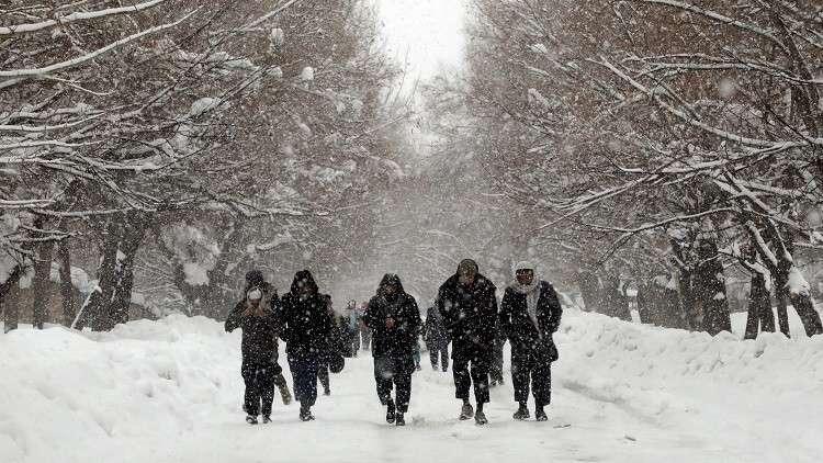 تساقط غزير للثلوج على أفغانستان