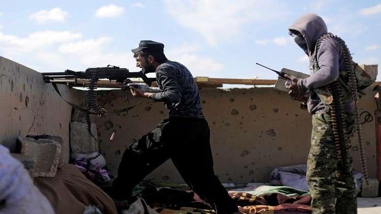 قوات سوريا الديمقراطية في الباغوز شرقي سوريا