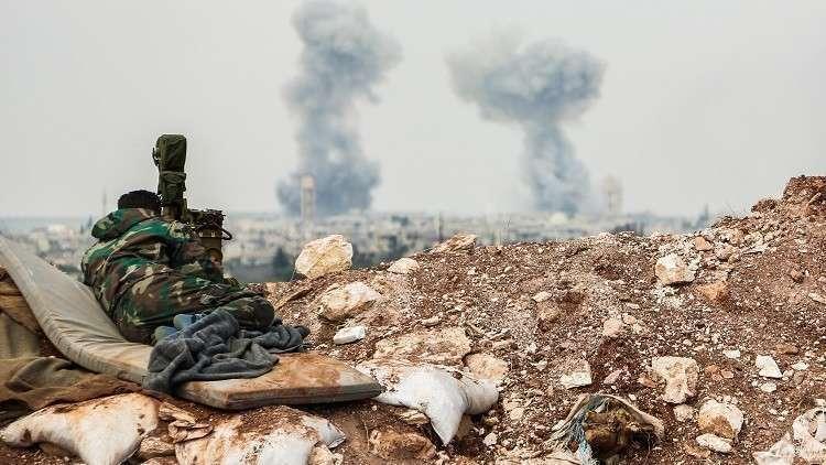 الجيش السوري يقصف مواقع للنصرة في أطراف خان شيخون جنوب إدلب