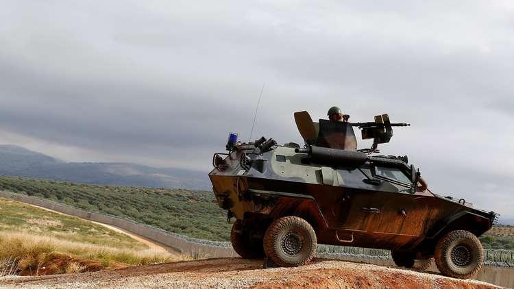 عربة عسكرية تركية عند الحدود مع سوريا - صورة أرشيفية