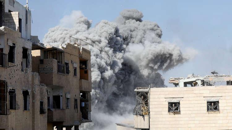 غارة على الرقة السورية - صورة أرشيفية