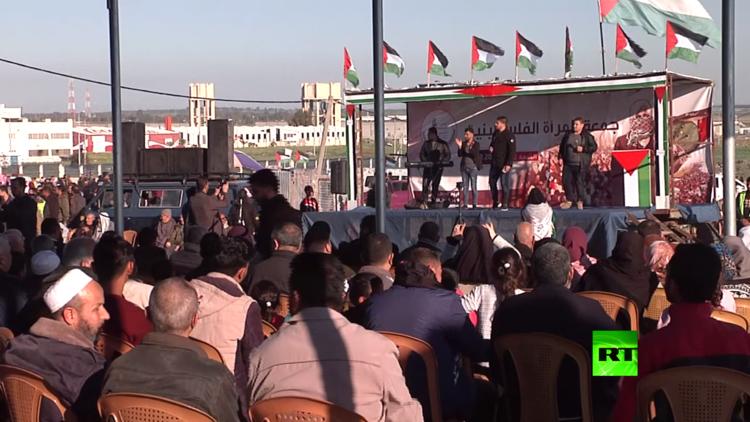 حفلة موسيقية في غزة بمناسبة عيد المرأة العالمي