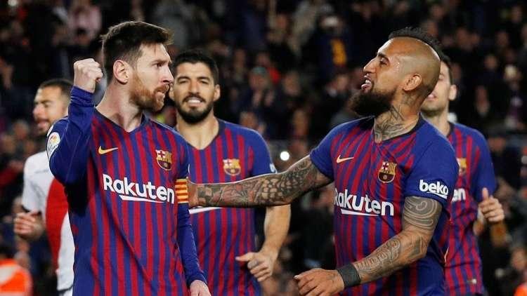 شاهد.. برشلونة يتخطى عقبة ضيفه رايو فاليكانو