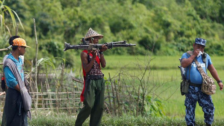 مقتل 9 من عناصر الشرطة في ولاية راخين معقل الروهينغا في ميانمار