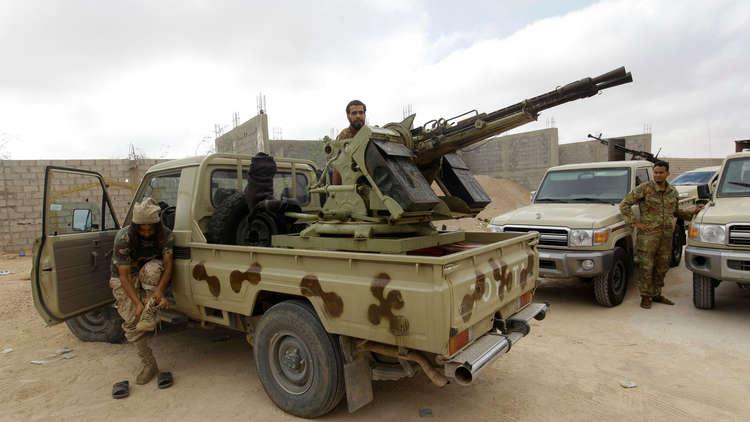 عناصر من القوات الموالية لحكومة الوفاق الوطني الليبية