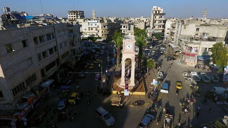 أرشيف - برج الساعة في مدينة إدلب، سوريا 8 يونيو 2017