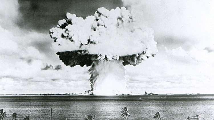 شريط مصور مرمم لأول تفجير قنبلة نووية