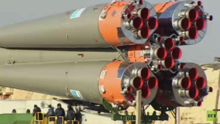 سويوز MS12 يستعد للتوجه إلى الفضاء