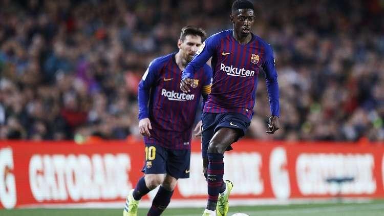 برشلونة يعلن فترة غياب ديمبلي عن الملاعب