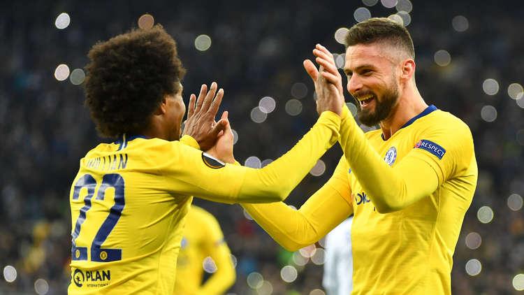 تأهل تشيلسي ونابولي إلى ربع نهائي الدوري الأوروبي