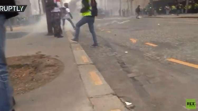 إصابة منتج من وكالة رابتلي في ساقه خلال تغطية احتجاجات باريس