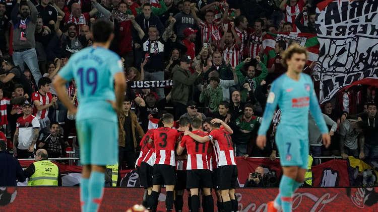أتلتيكو مدريد يسقط أمام بيلباو ويقدم هدية ثمينة لبرشلونة