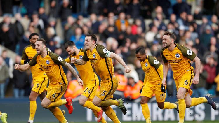 برايتون يهزم ميلوول ويواجه سيتي في نصف نهائي كأس إنجلترا