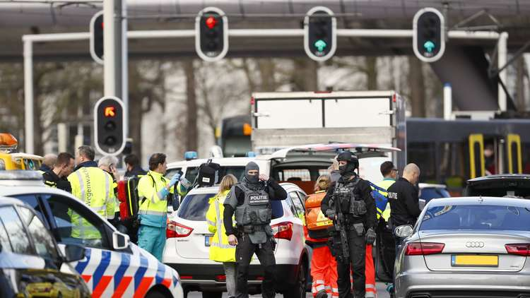 موقع إطلاق النار في مدينة أوتريخت الهولندية