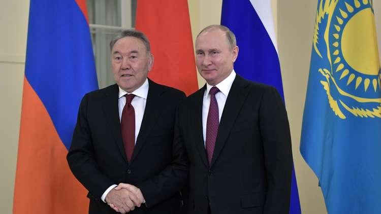 الرئيس بوتين يجري اتصالا هاتفيا بنظيره الكازاخستاني المستقيل