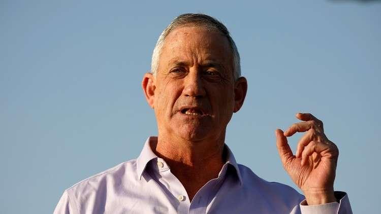 المرشح الإسرائيلي بيني غانتس يمتنع عن الحديث عن دولة للفلسطينيين