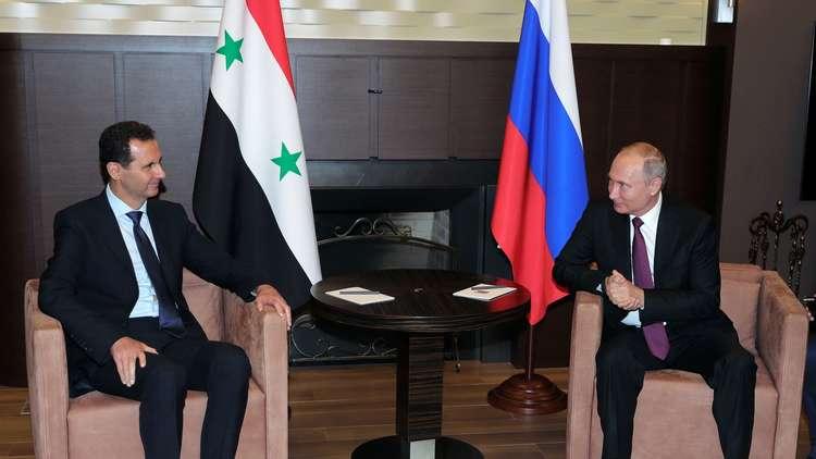 الكرملين يكشف عن جزئية من فحوى رسالة بوتين للأسد