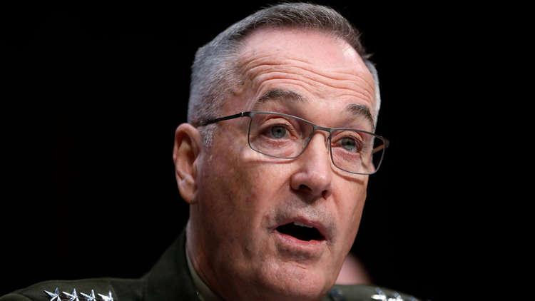 رئيس هيئة الأركان المشتركة للقوات الأمريكية، الجنرال جوزيف دانفورد