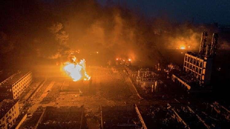 بالفيديو لحظة الانفجار الكارثي الهائل في مصنع للكيميائيات في الصين