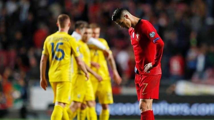 تعثر رونالدو والبرتغال أمام أوكرانيا بقيادة المدرب شيفتشينكو