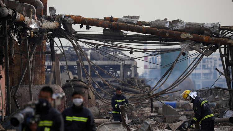 ارتفاع حصيلة ضحايا انفجار مصنع الكيميائيات في الصين إلى 64 قتيلا
