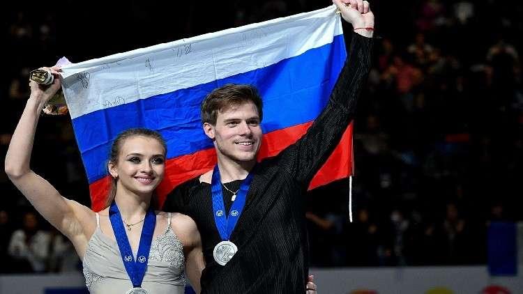 الثنائي الروسي سينيتسينا وكاتسالابوف يفوز بفضية بطولة العالم للتزحلق