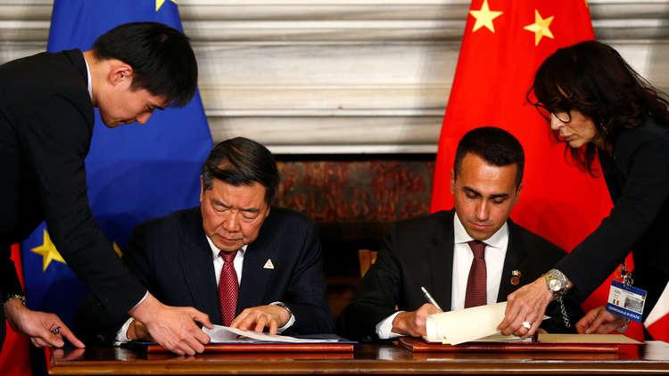 الصين وإيطاليا توقعان بروتوكولات تعاون تاريخية
