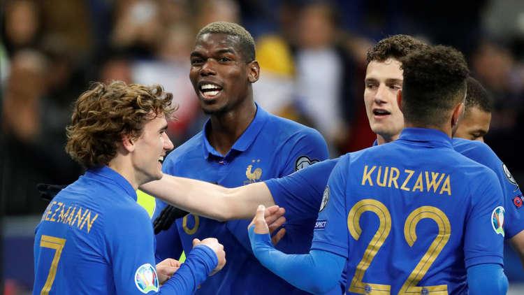 فرنسا تقسو على آيسلندا برباعية في تصفيات يورو 2020