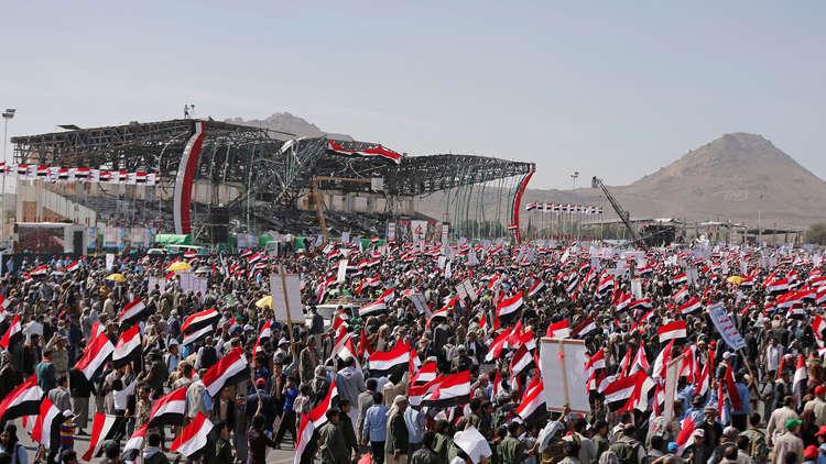 مسيرات في صنعاء تزامنا مع مرور 4 سنوات على بدء التحالف العربي عملياته العسكرية