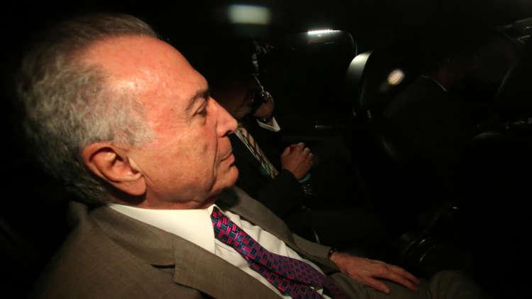 الرئيس البرازيلي السابق ميشال تامر يعود إلى منزله في سان باولو، البرازيل، 25 مارس 2019