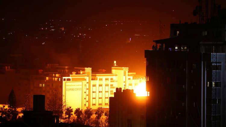الطيران الإسرائيلي يقصف غزة