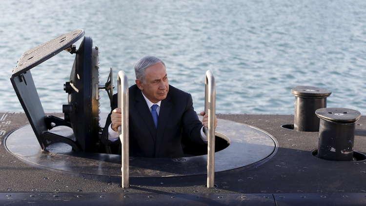 بنيامين نتنياهو يتفقد غواصة - صورة أرشيفية