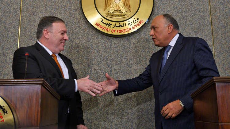 وزير الخارجية المصري سامح شكري ونظيره الأمريكي مايك بومبيو - أرشيف