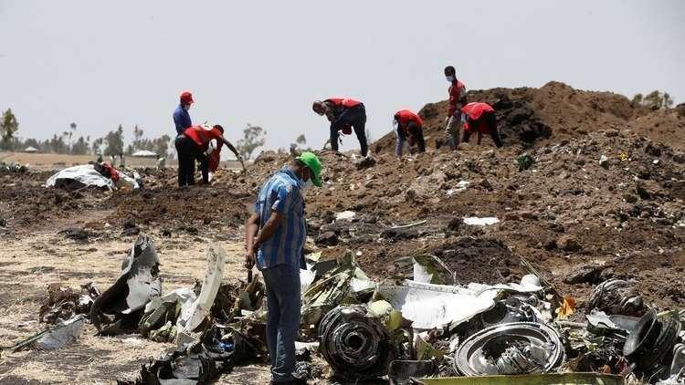 (صورة أرشيفية) مكان تحطم طائرة البوينغ التابعة للخطوط الجوية الإثيوبية