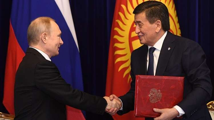 رئيسا روسيا وقرغيزستان